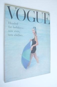 British Vogue magazine - July 1957 (Vintage Issue)