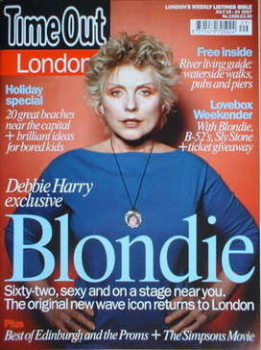 Time Out magazine - Debbie Harry cover (18-24 July 2007)