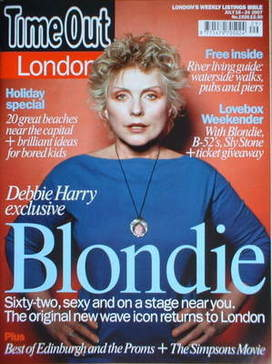 <!--2007-07-18-->Time Out magazine - Debbie Harry cover (18-24 July 2007)