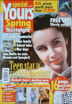 Yours magazine - Elizabeth Taylor cover (Spring Nostalgia Special 2006)