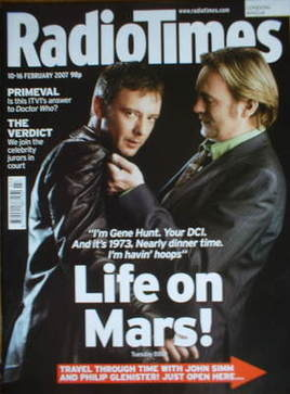 <!--2007-02-10-->Radio Times magazine - John Simm and Philip Glenister cove