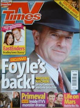 <!--2007-02-10-->TV Times magazine - Michael Kitchen cover (10-16 February