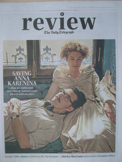 The Daily Telegraph Review newspaper supplement - 8 September 2012 - Keira