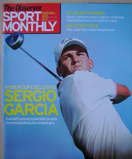 The Observer Sport Monthly magazine - Sergio Garcia cover (September 2001)