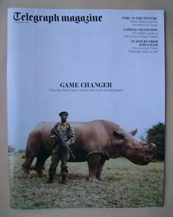 <!--2012-09-08-->Telegraph magazine - Rhino cover (8 September 2012)