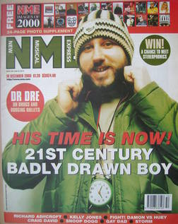 <!--2000-12-16-->NME magazine - Badly Drawn Boy cover (16 December 2000)