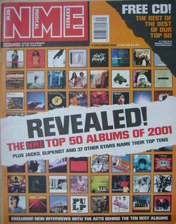 <!--2001-12-08-->NME magazine - Top 50 Albums of 2001 cover (8 December 200