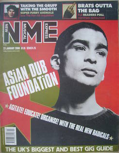 NME magazine - Master D cover (22 January 2000)