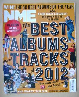 <!--2012-12-01-->NME magazine - The Best Album Tracks 2012 cover (1 Decembe