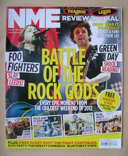 <!--2012-09-01-->NME magazine - Battle of the Rock Gods cover (1 September