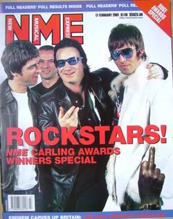 <!--2001-02-17-->NME magazine - Rockstars! cover (17 February 2001)