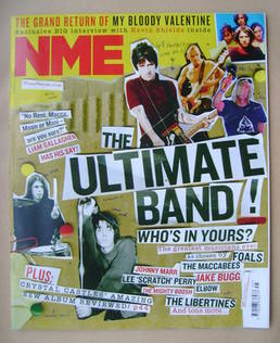 <!--2012-11-10-->NME magazine - The Ultimate Band! cover (10 November 2012)