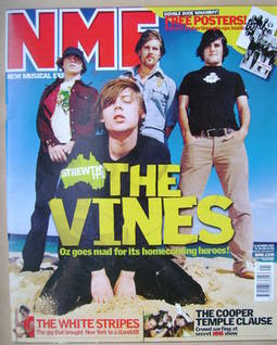 <!--2002-10-12-->NME magazine - The Vines cover (12 October 2002)