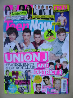 Teen Now magazine - Union J cover (March 2013)