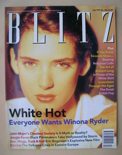 <!--1991-07-->Blitz magazine - July 1991 - Winona Ryder cover