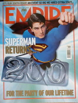 <!--2006-02-->Empire magazine - Superman Returns cover (February 2006 - Iss