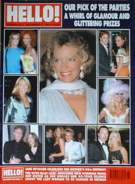 <!--1999-09-21-->Hello! magazine - Our Pick of the Parties cover (21 Septem