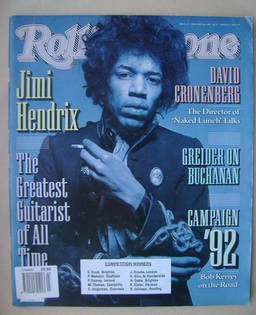 Rolling Stone magazine - Jimi Hendrix cover (6 February 1992 - Issue 623)