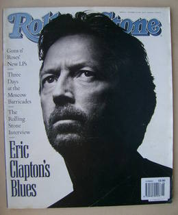 Rolling Stone magazine - Eric Clapton cover (17 October 1991 - Issue 615)