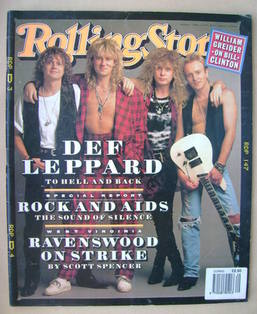 Rolling Stone magazine - Def Leppard cover (30 April 1992 - Issue 629)