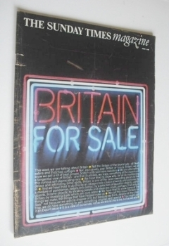 The Sunday Times magazine - Britain For Sale cover (27 March 1966)
