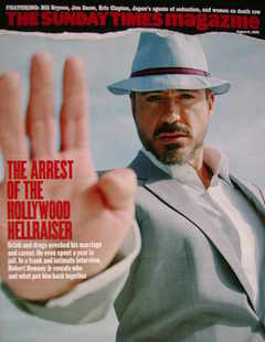 <!--2008-08-31-->The Sunday Times magazine - Robert Downey Jr cover (31 Aug