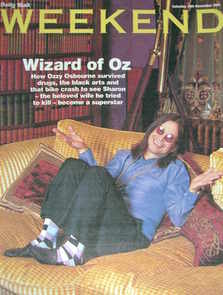 Weekend magazine - Ozzy Osbourne cover (19 November 2005)