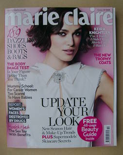 <!--2011-10-->British Marie Claire magazine - October 2011 - Keira Knightle