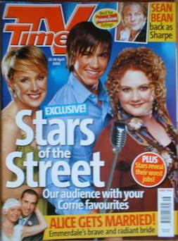 <!--2006-04-22-->TV Times magazine - Sally Whittaker, Richard Fleeshman, Je