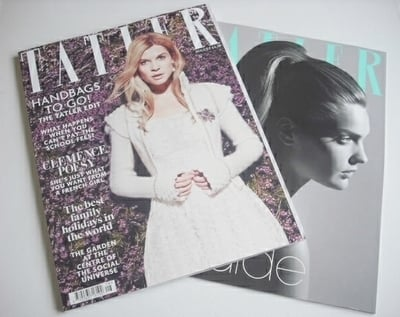 <!--2013-08-->Tatler magazine - August 2013 - Clemence Poesy cover