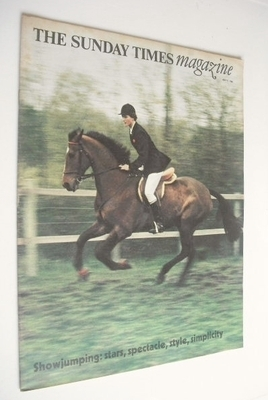 <!--1966-07-17-->The Sunday Times magazine - Showjumping cover (17 July 196