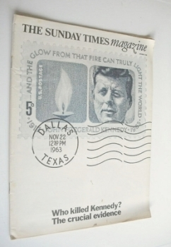 The Sunday Times magazine - Who Killed Kennedy cover (9 October 1966)