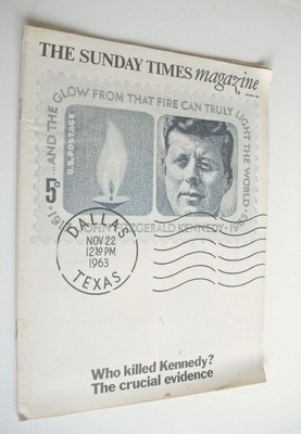 <!--1966-10-09-->The Sunday Times magazine - Who Killed Kennedy cover (9 Oc