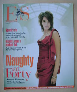 <!--2003-07-18-->Evening Standard magazine - Tracey Emin cover (18 July 200