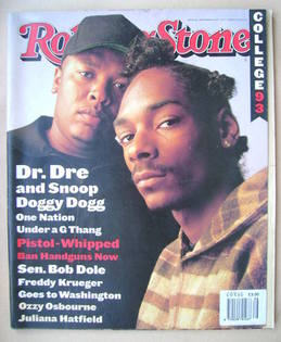 Rolling Stone magazine - Dr. Dre and Snoop Doggy Dogg cover (30 September 1