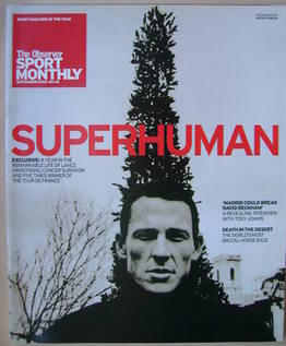 The Observer Sport Monthly magazine - Lance Armstrong cover (September 2003)