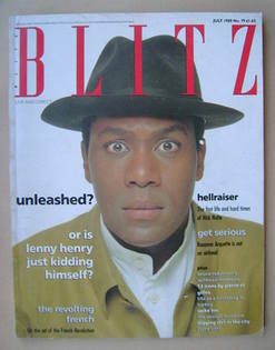 <!--1989-07-->Blitz magazine - July 1989 - Lenny Henry cover