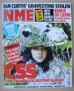 <!--2008-07-12-->NME magazine - CSS cover (12 July 2008)