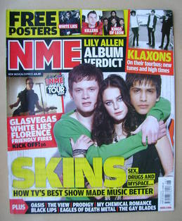<!--2009-02-07-->NME magazine - Skins cover (7 February 2009)