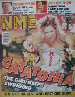NME magazine - Cerys Matthews cover (27 March 1999)