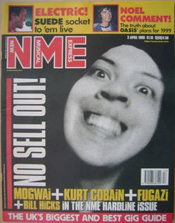 <!--1999-04-03-->NME magazine - Stuart Braithwaite cover (3 April 1999)