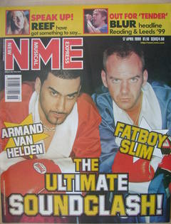 NME magazine - Armand Van Helden and Fatboy Slim cover (17 April 1999)