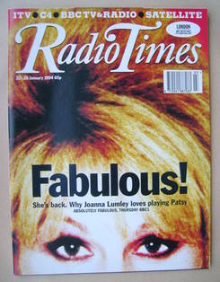 <!--1994-01-22-->Radio Times magazine - Joanna Lumley cover (22-28 January