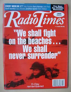<!--1994-06-04-->Radio Times magazine - D-Day Remembered cover (4-10 June 1