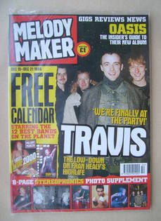 <!--1999-12-15-->Melody Maker magazine - Travis cover (15-21 December 1999)
