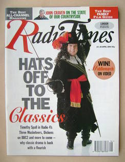 <!--1994-04-23-->Radio Times magazine - Timothy Spall cover (23-29 April 19