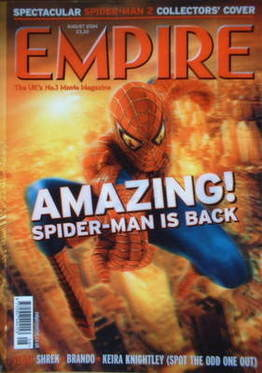<!--2004-08-->Empire magazine - Spiderman cover (August 2004 - Issue 182)
