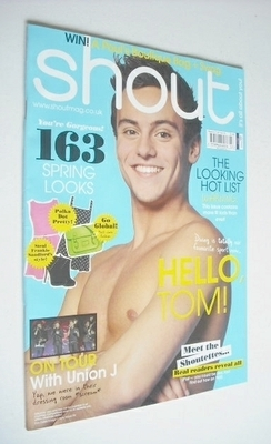 <!--2013-04-04-->Shout magazine - Tom Daley cover (4-23 April 2013)