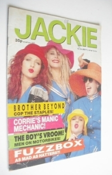 Jackie magazine - 1 July 1989 (Issue 1330 - Fuzzbox cover)