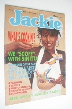 Jackie magazine - 11 March 1989 (Issue 1314 - Sinitta cover)